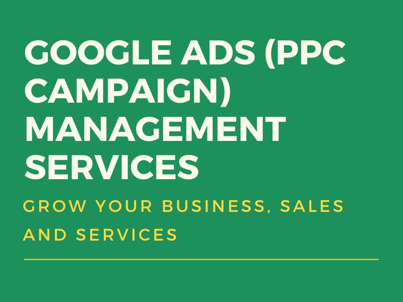 Google ads AdWords PPC campaign management services