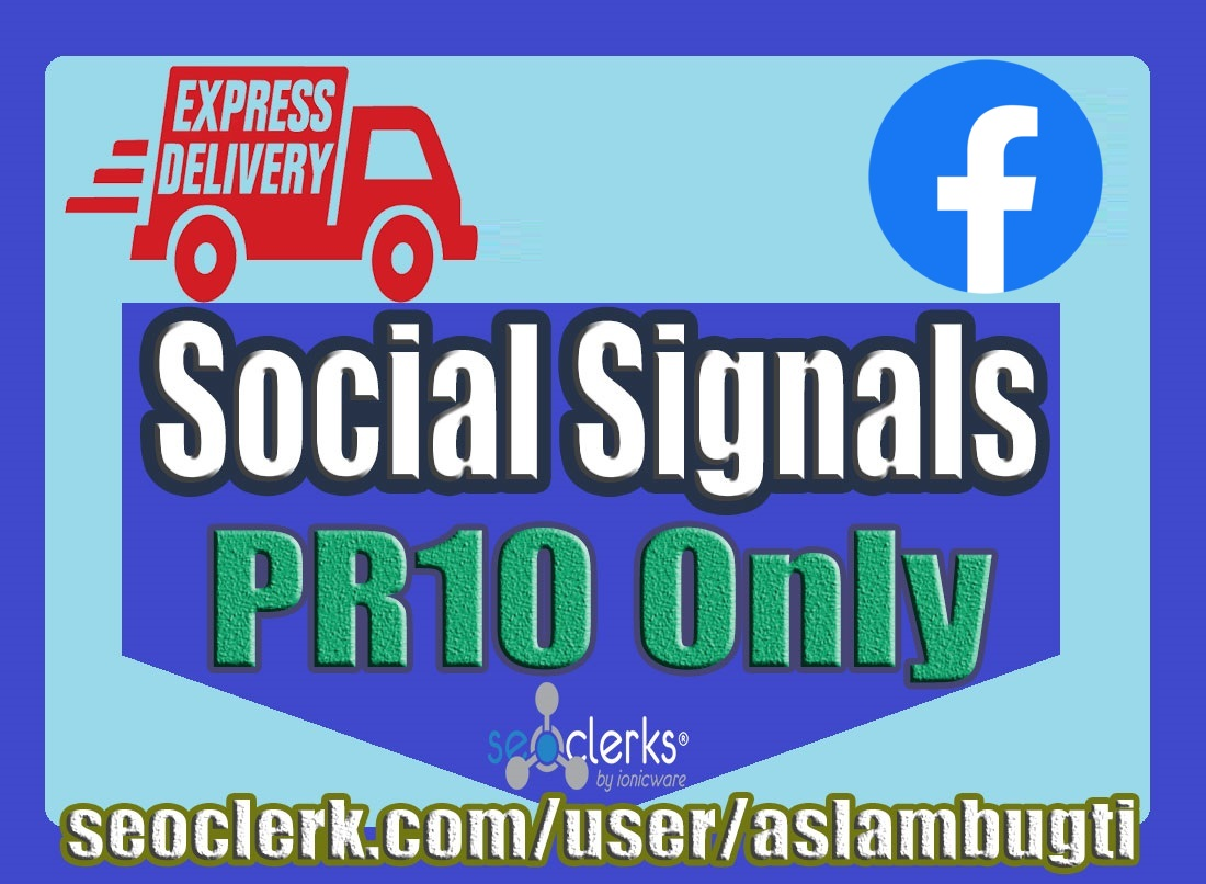 1,000 High Quality Facebook Social Signals / Bookmark / Backlinks / Help First Page Google