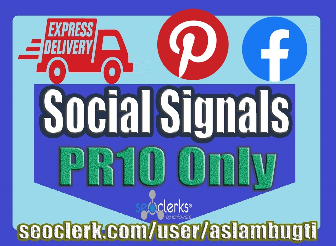 7,000 Mix High Quality Social Signals Share / Bookmark / Backlinks / Help First Page Google