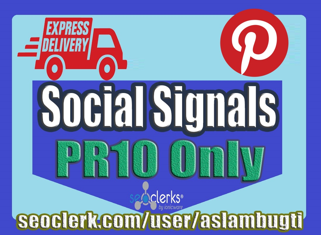 8,000 High Quality Pinterest Social Signals Share / Bookmark / Backlinks / Help First Page Google