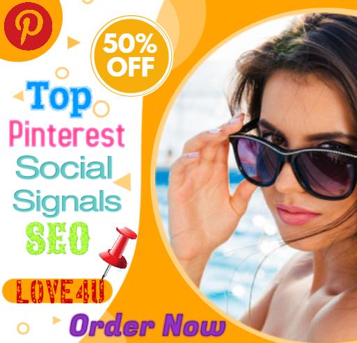 40,000 Pinterest Social Signals SEO backlink traffic Ranking First Page Google