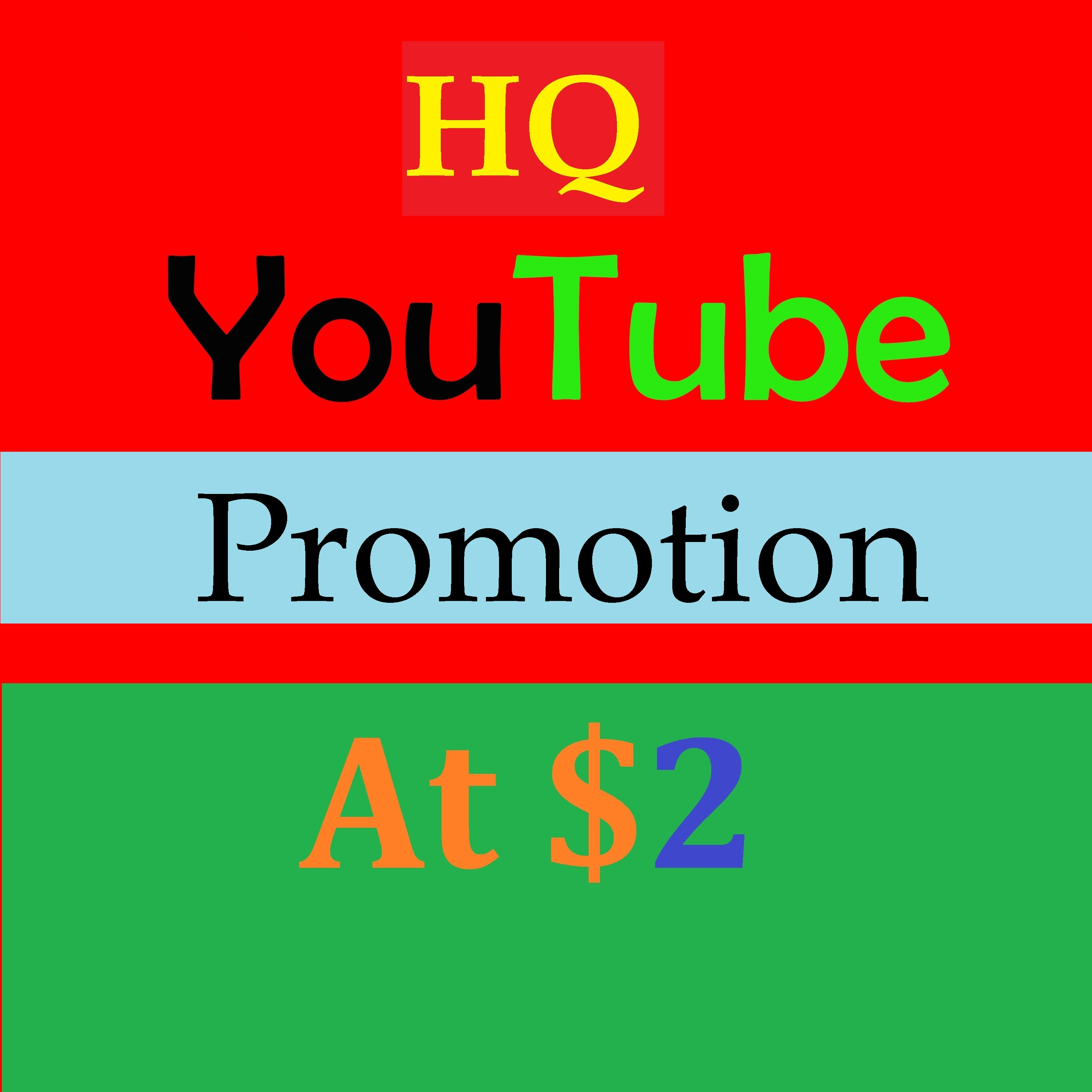 Social Media YouTube Promotion services