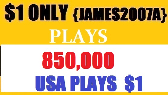 850,000 USA Plays Top Quality NON DROP