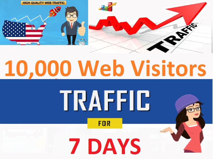 10,000 Visitors traffic Adsense Safe.