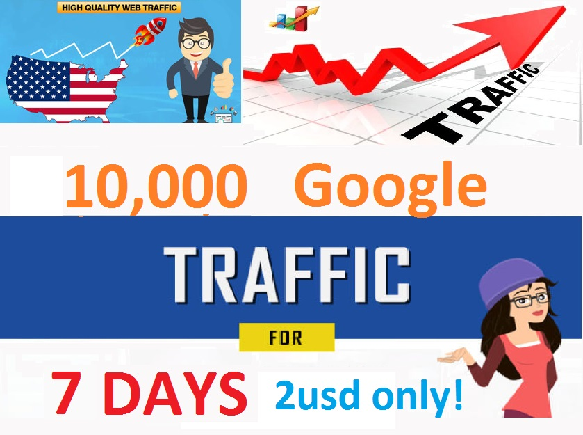 10,000 Google Visitors traffic Adsense Safe.