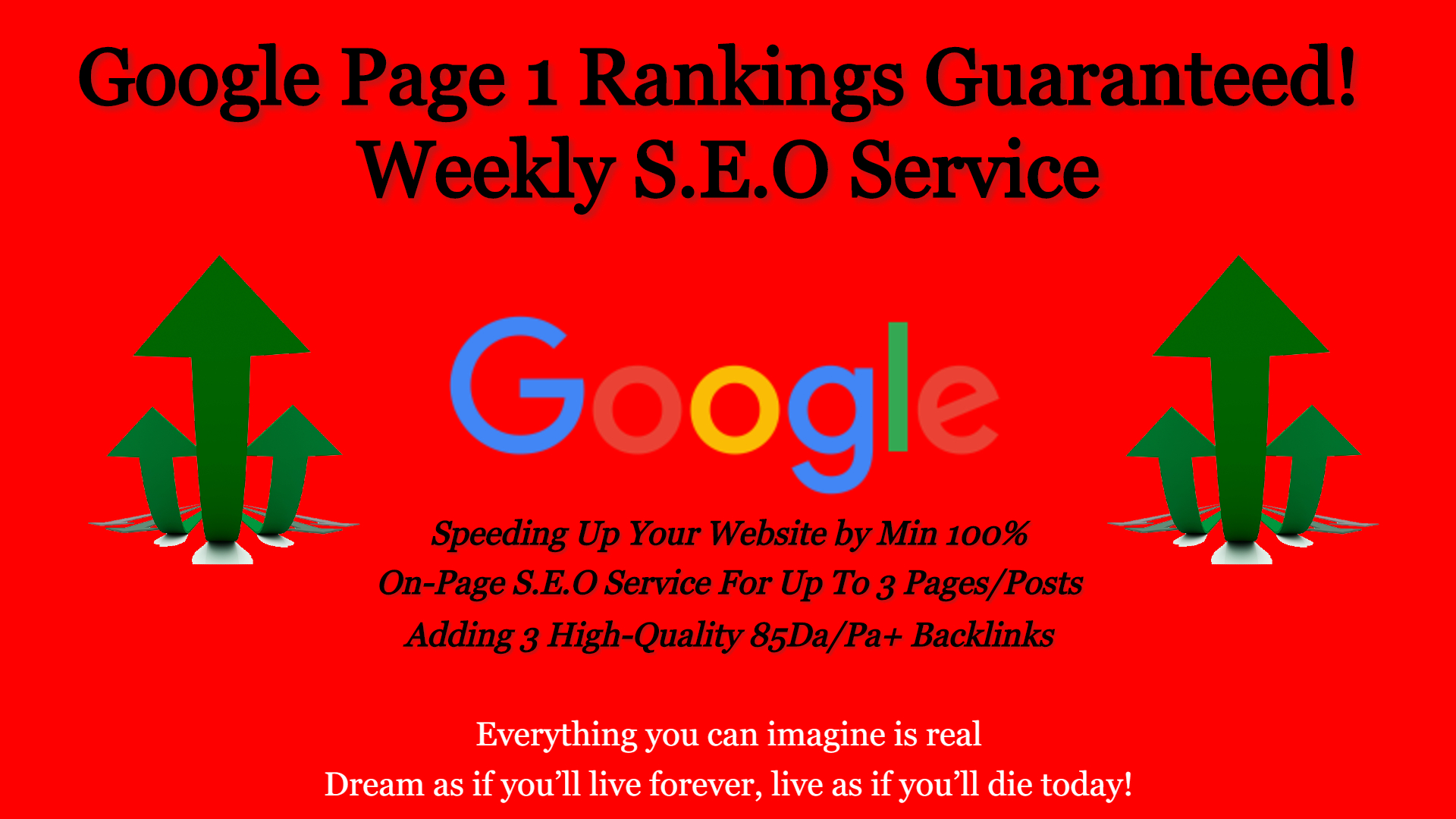Guaranteed Google Page 1 Rankings - Weekly SEO Service