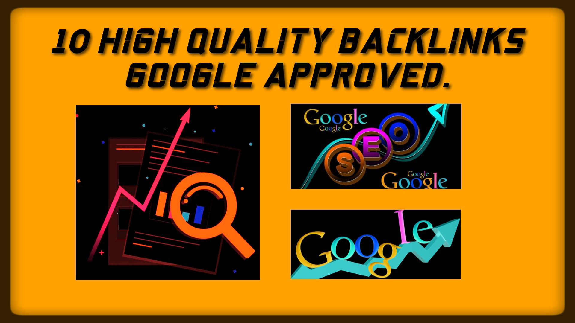 Create 10 High Quality Da/Pa 50+ Tf/Cf 25+ Backlinks Google Approved