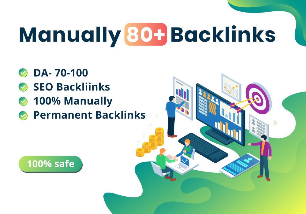 DA70-100 MANUALLY 80 + TOP BACKLINKS FROM THE INTERNET GOOGLE LATEST UPDATED