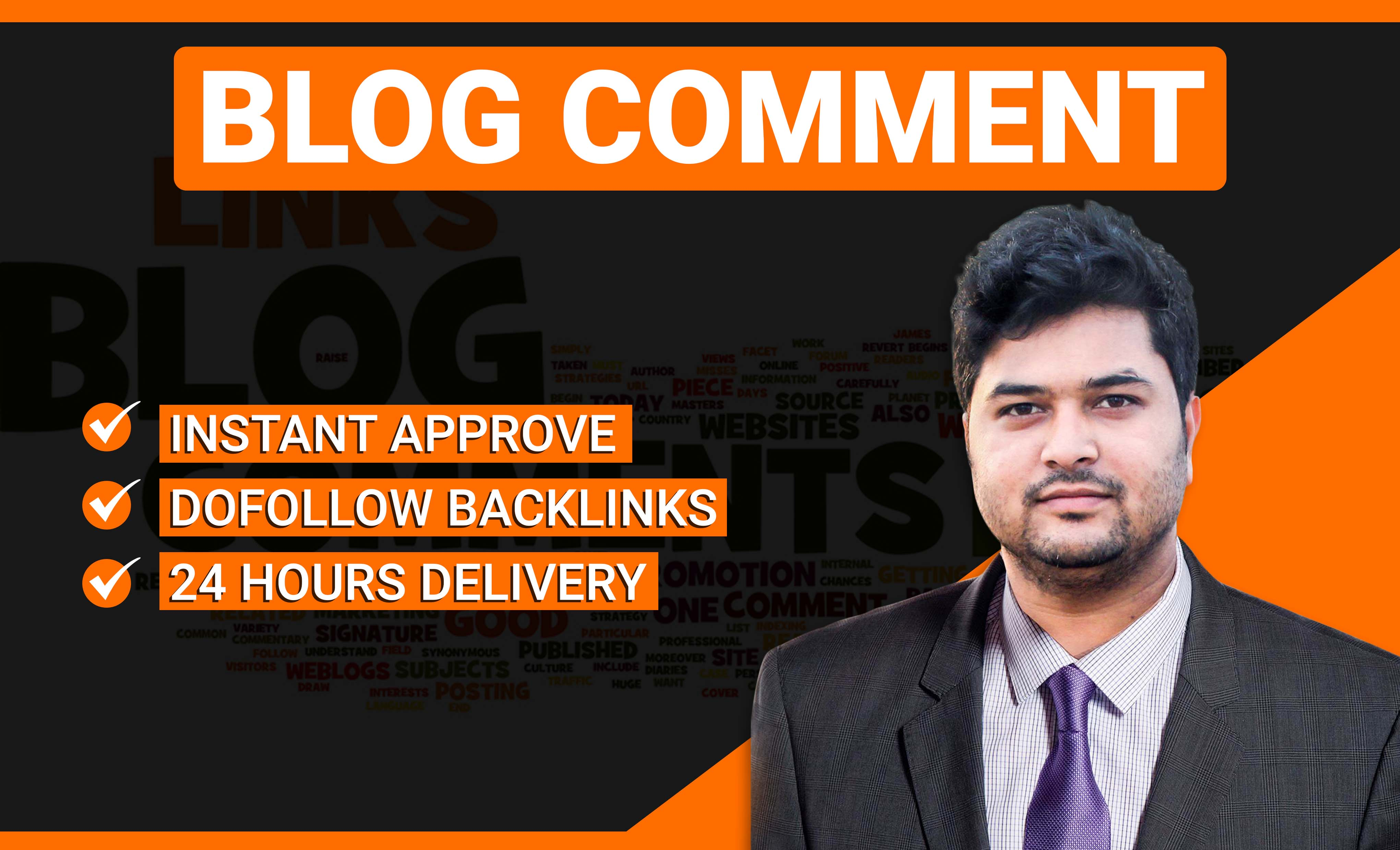 BLOG COMMENT- INSTANT APPROVE DOFOLLOW BACKLINKS