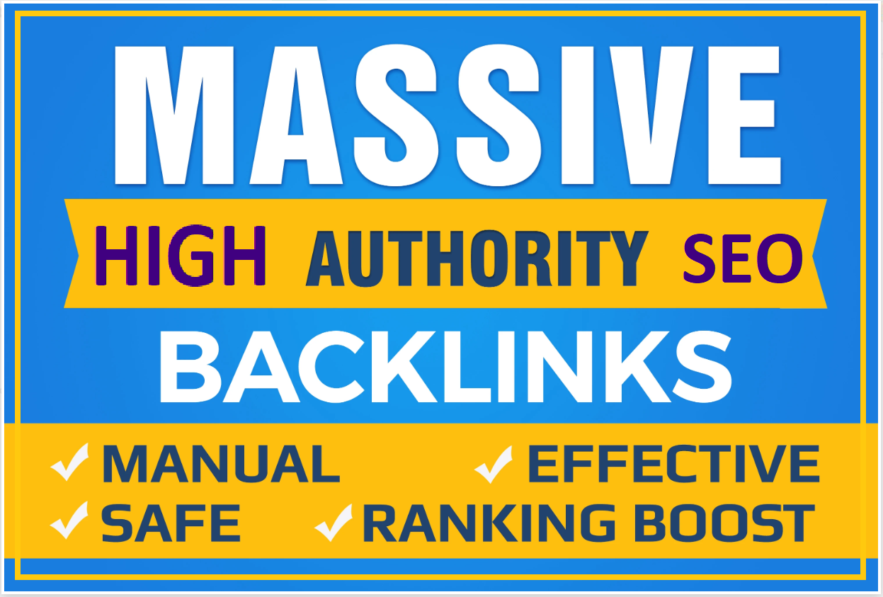 I will boost your ranking with manual high powerful authority seo dofollow backlinks