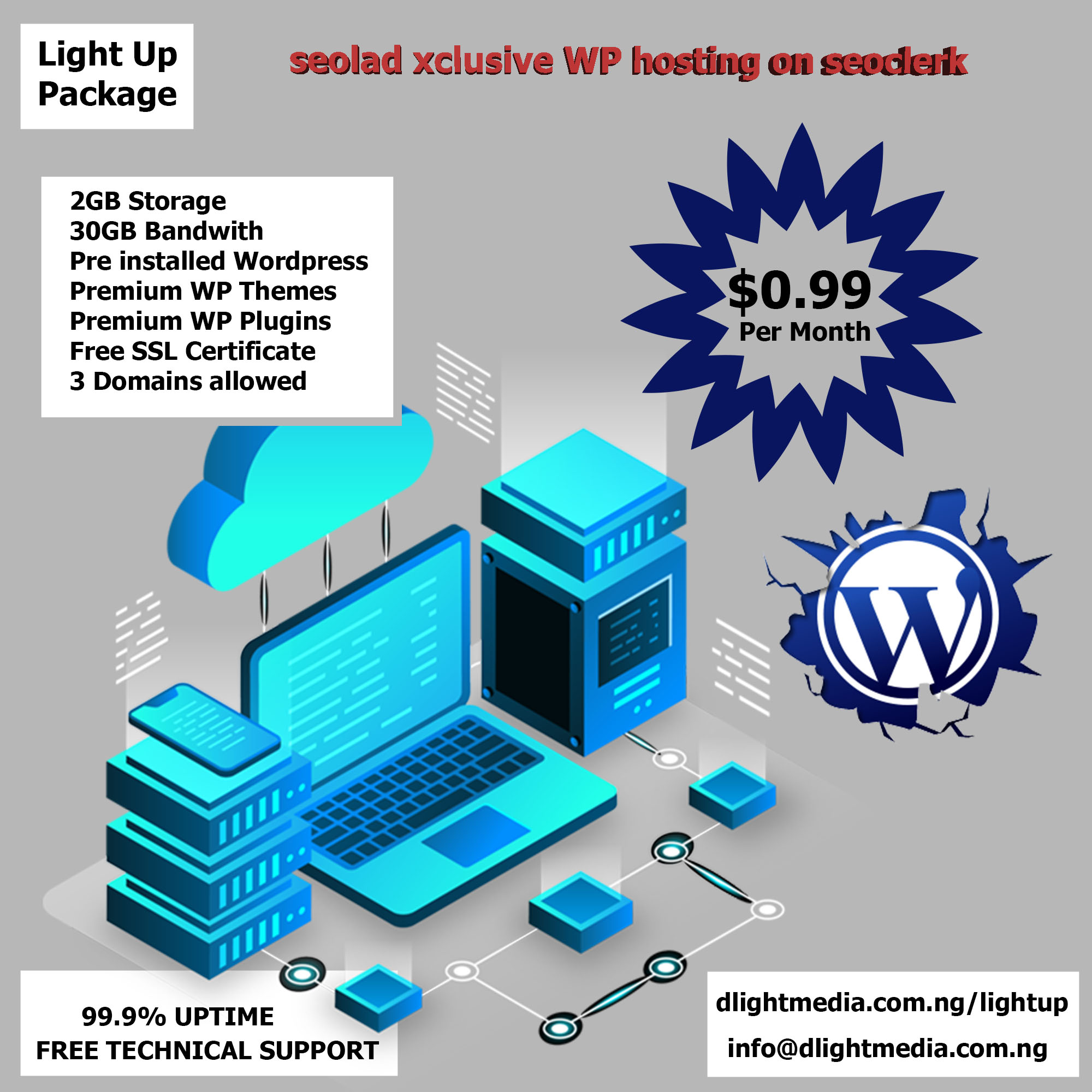 High quality UNLIMITED Hosting plus Premium themes and plugins