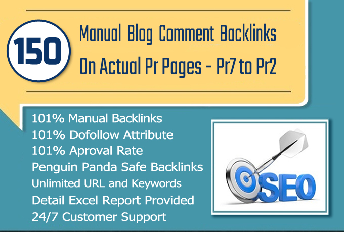 150 MANUAL Dofollow Blog comments Backlinks on High DA Sites
