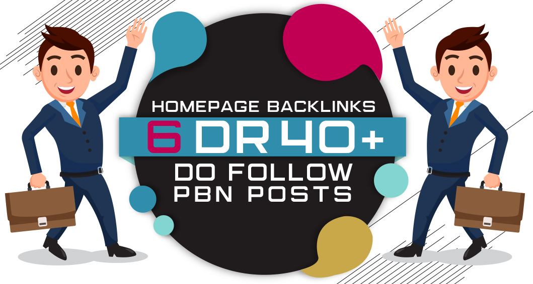6 Manual HIGH DR 50 Plus Homepage PBN Backlinks