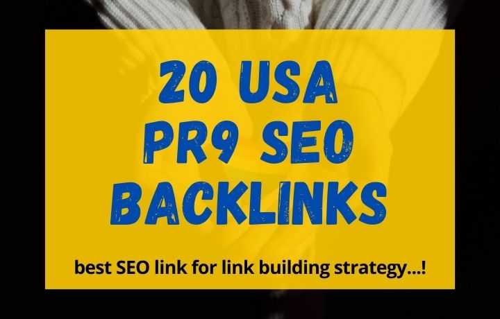 Whit Hat Links,  20 USA PR9 SEO Backlinks for link building stategy