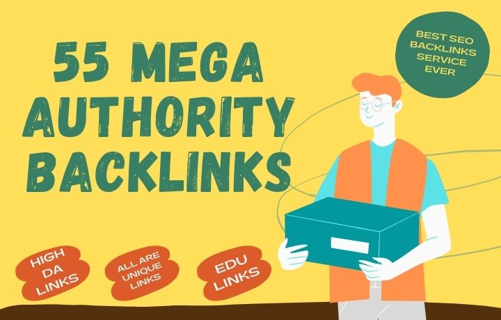 in this service I give you,  55 Authority backlinks with some EDU Backlinks