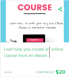 I'll help you create an online Course from your own eBook