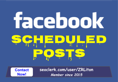 Scheduled Posts your provided content on your Facebook Page for 7 days