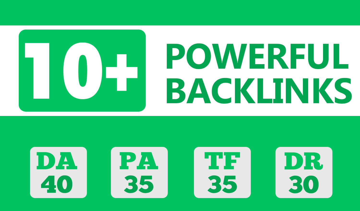 Provide 10 DA PA 40+ backlinks to Boost your Google Ranking