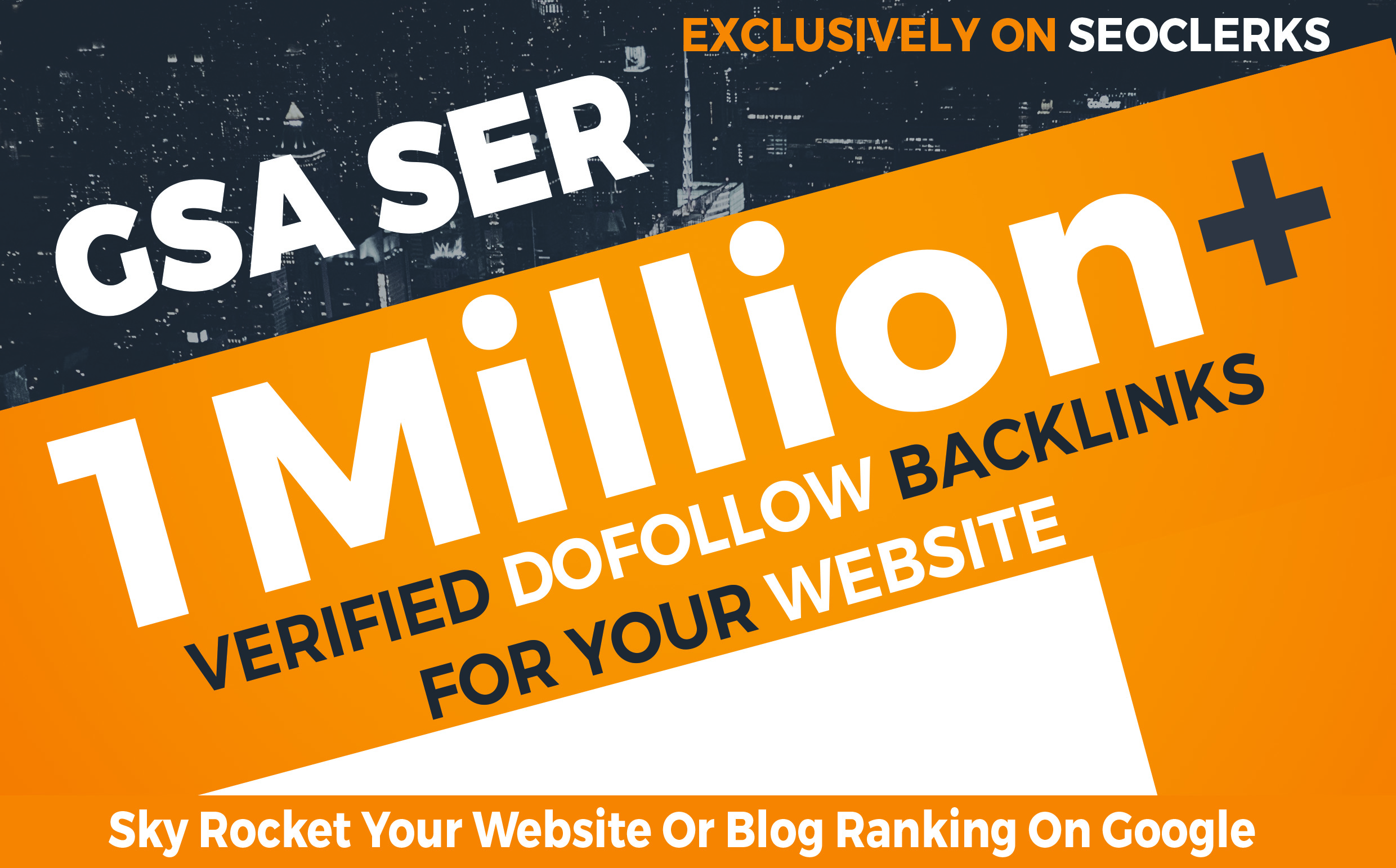1 Milion GSA SER Dofollow Backlinks to Boost your Site Ranking on Google SERP