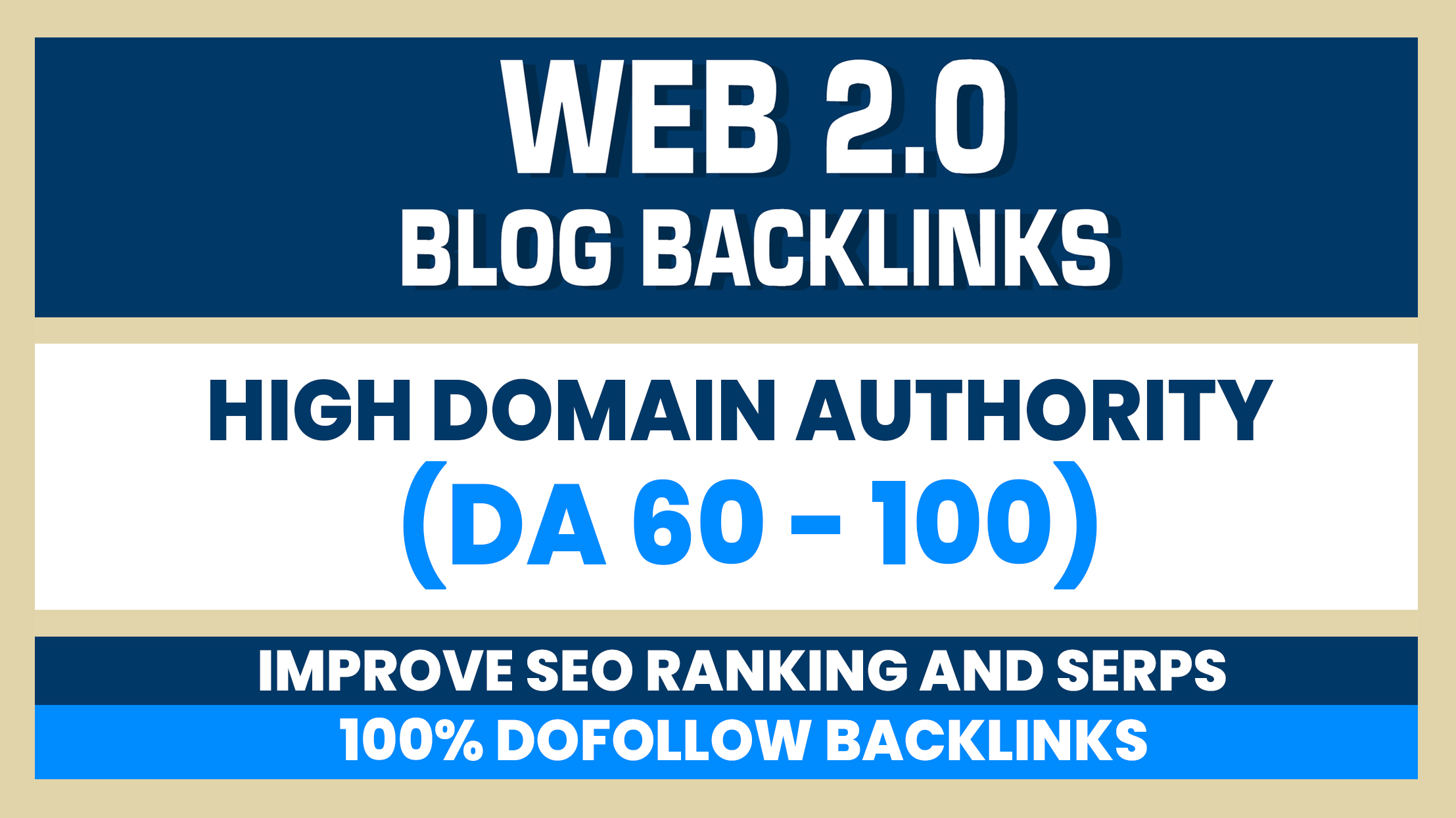 Build 10 Web 2.0 DA 60-100 home page blogs post backlinks