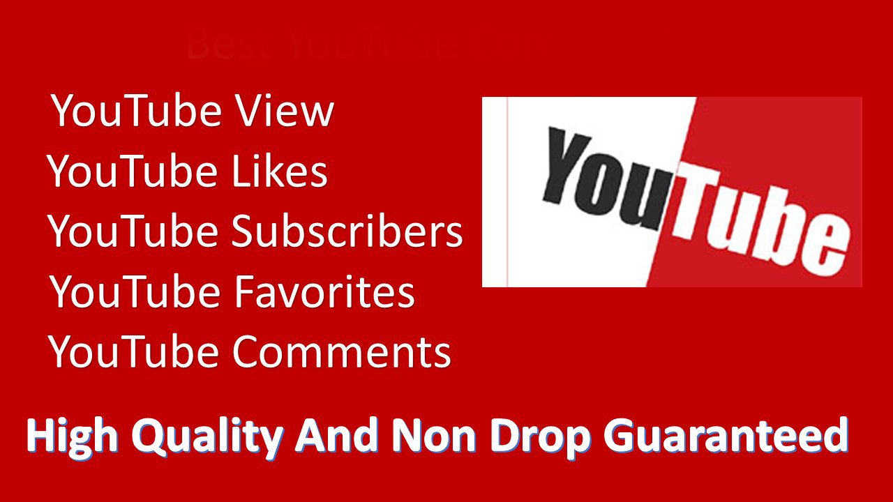 Real permanent NON DROP Premium Quality YouTube promotions