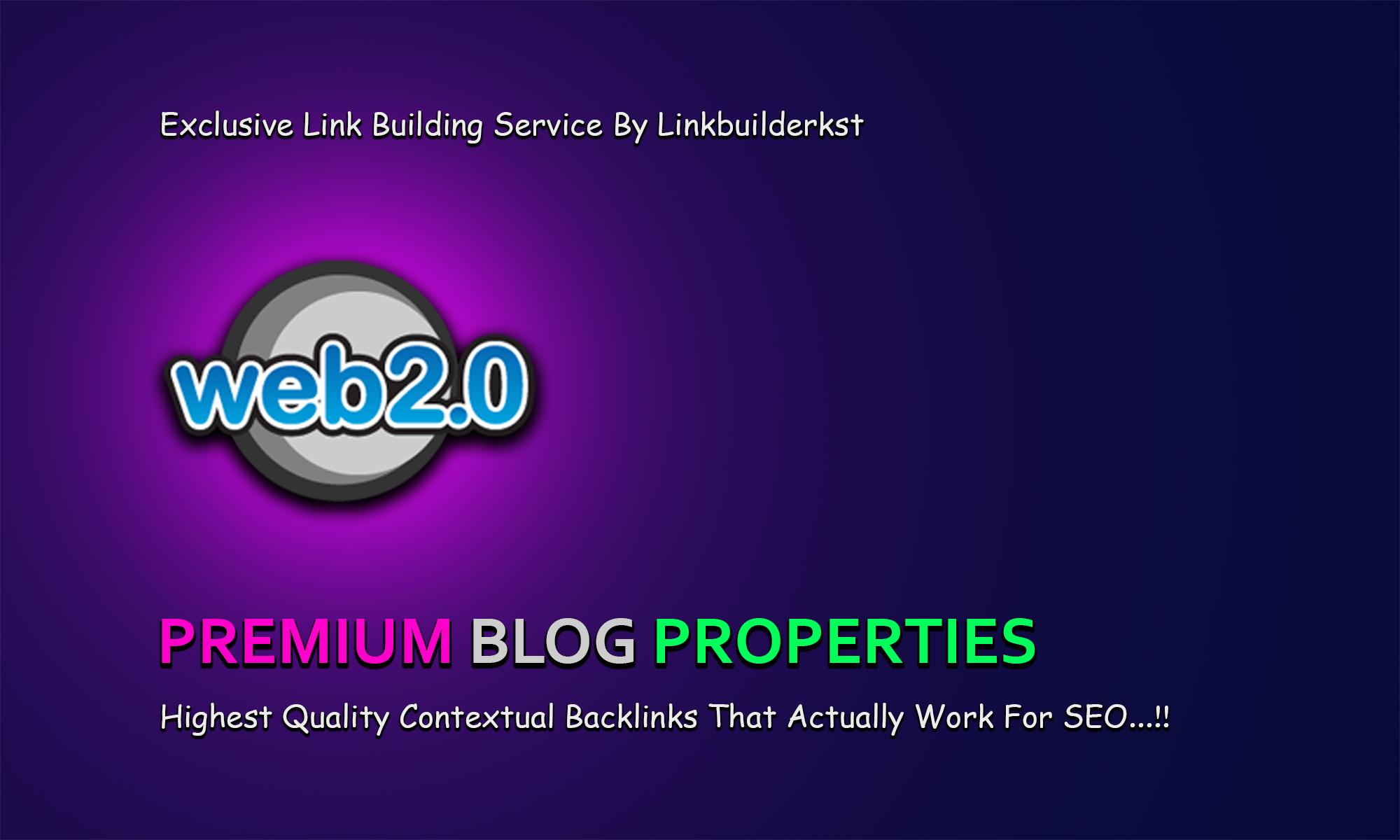 10 Premium Web 2.0 Buffer Blog Properties With Login & Unique Content
