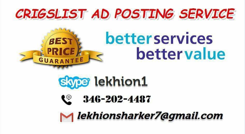 I will do your craigslist ads posting USA all City