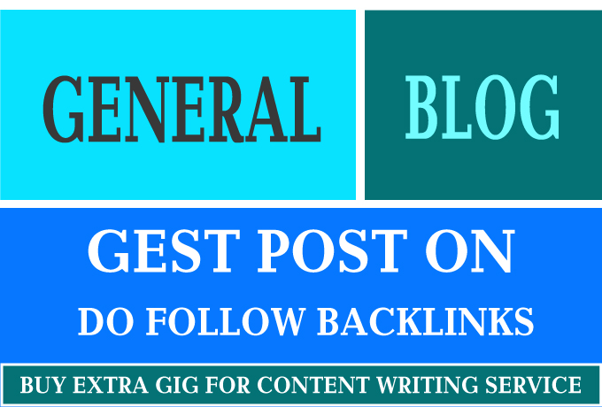 I Will Guest Post On General Blog DA 50+ And Traffic 12K+