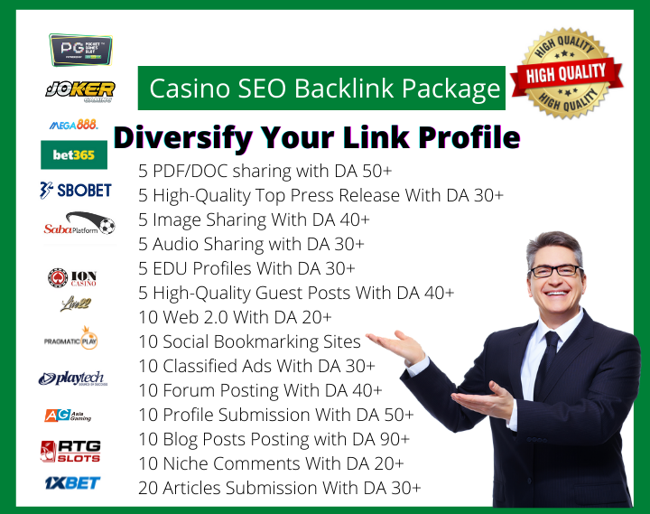 Diversify Your Link Profile with Our Casino SEO Backlink Package