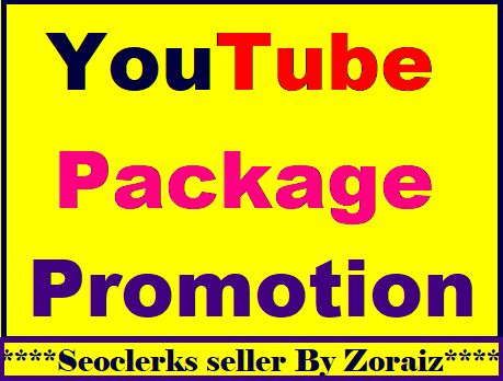 YouTube package promotion all in one Fast completed