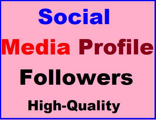 Social Profile Followers High Quality Promotion Super Fast Completed