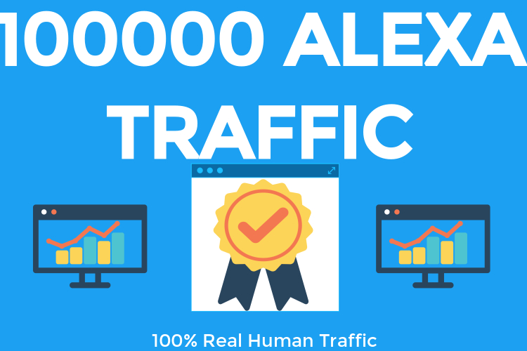 100000+ alexa visitors to your site