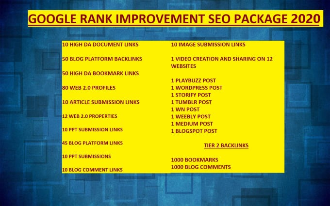 SEO Backlinks for 2020 ( Google Rank Improvement)
