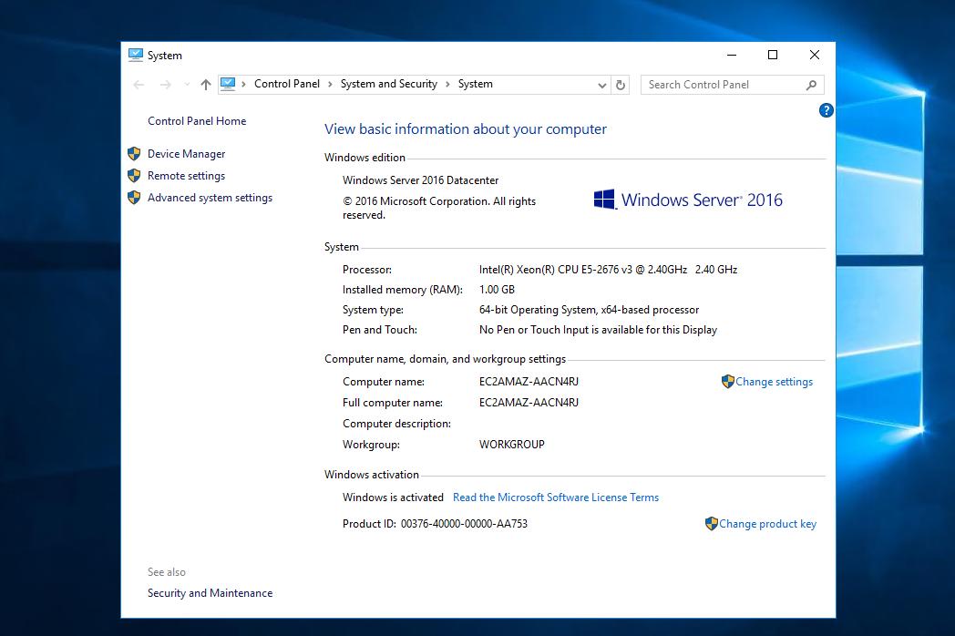 Windows RDP VPS 1GB Ram 30GB SSD 1vCPU