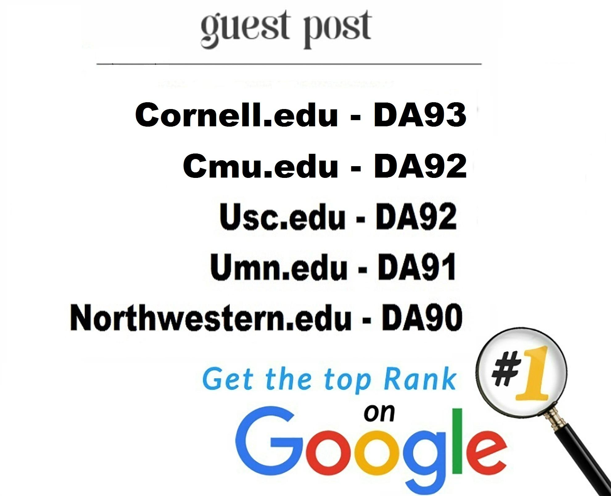 5 EDU Guest Posts on USA Universities - DA90+