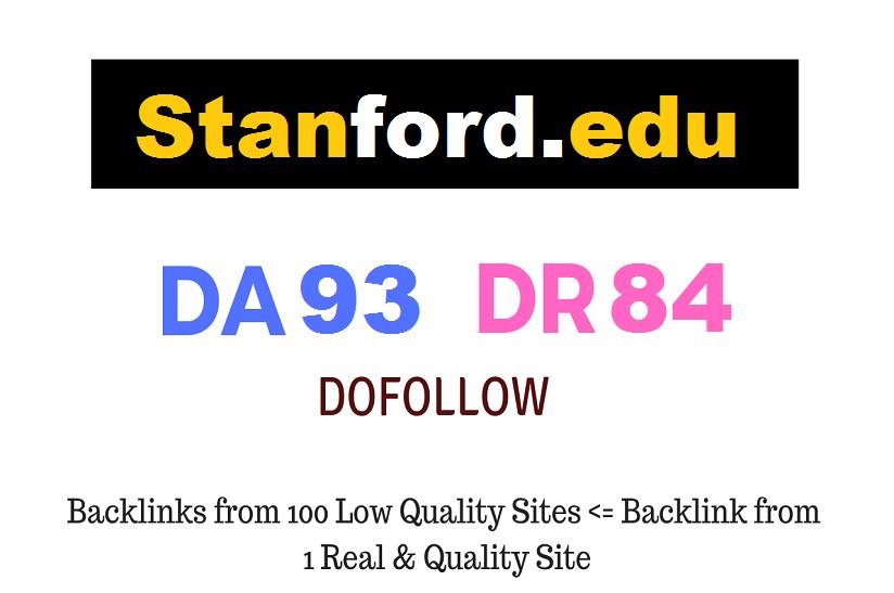 Guest Post on Stanford University - Stanford.edu - DA93 PA84