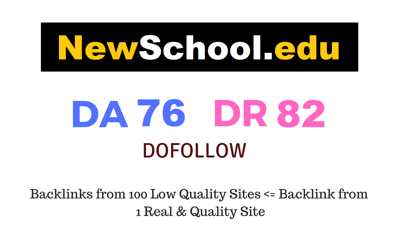 Guest Post on Newschool. edu DA76 DR82