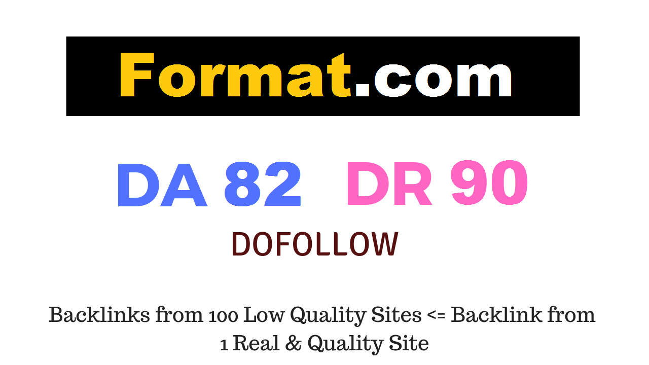 Guest Post on Format. com DA82 DR90