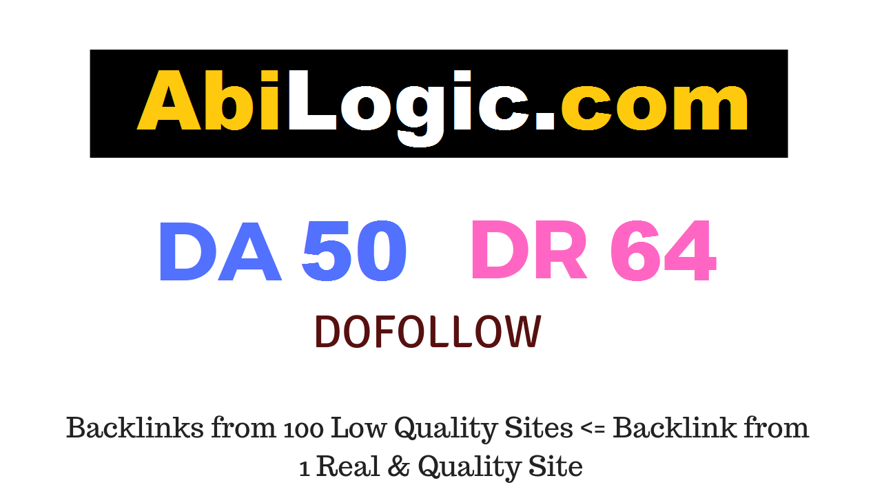 Publish Guest Post on Abilogic. com DA50 DR64