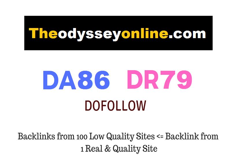 Publish A Dofollow Guest Post On Theodysseyonline. com