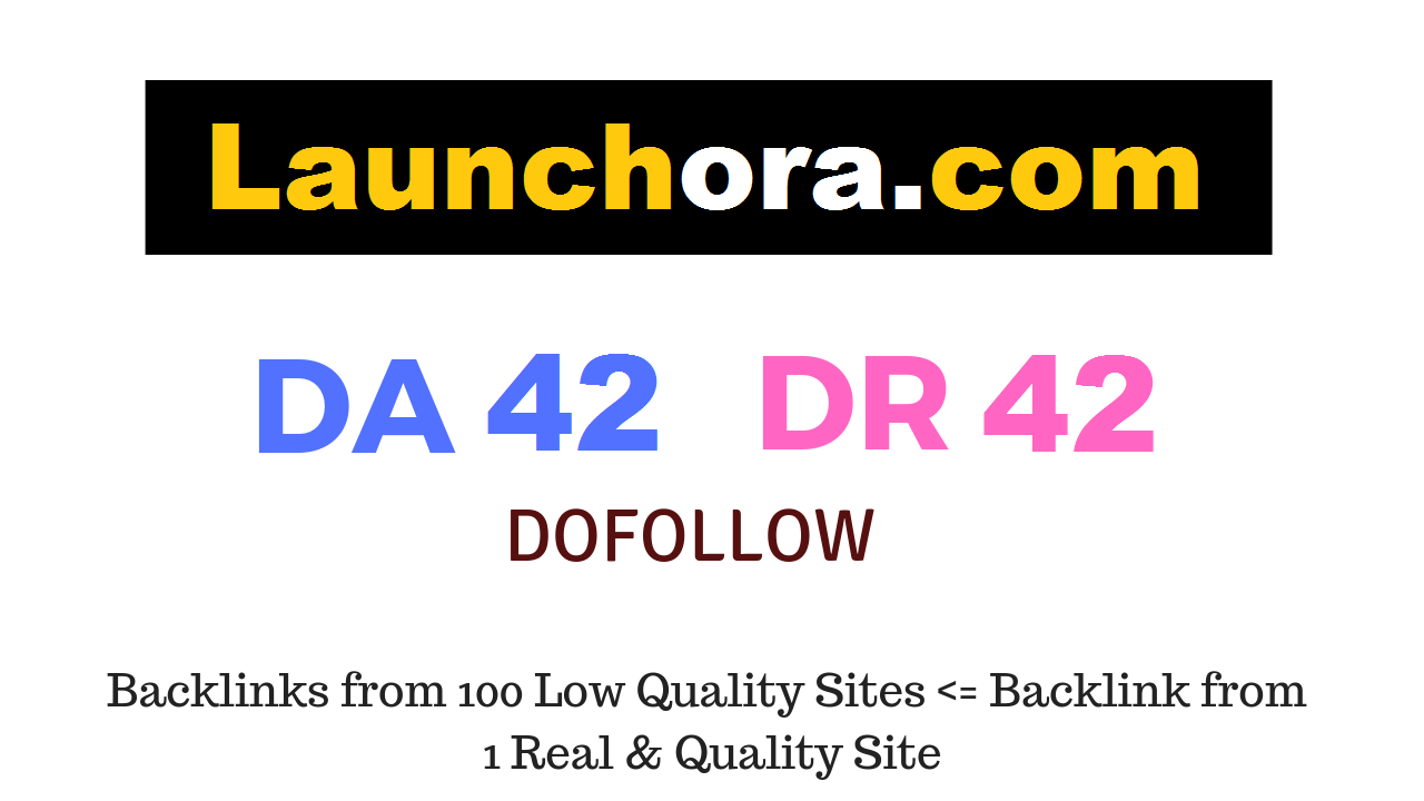 Publish a guest post on Launchora. com DA42 DR42