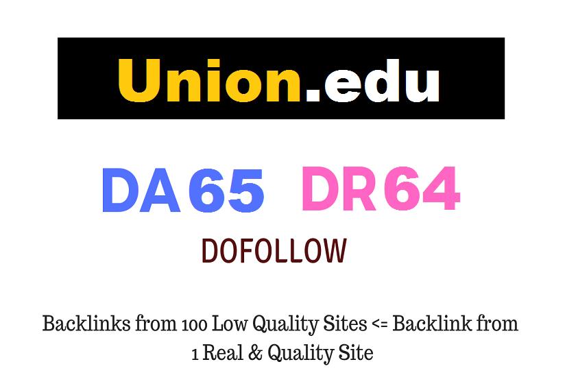 Guest Post on Union College - Union. edu - DA65 DR64