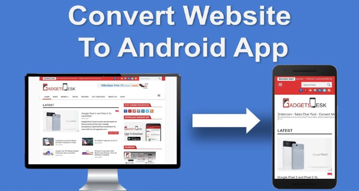 Convert Your Website, YouTube Chanel, FaceBook Page Into a Cool Android Application