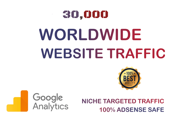 30,000 Real World Wide Website Visitors