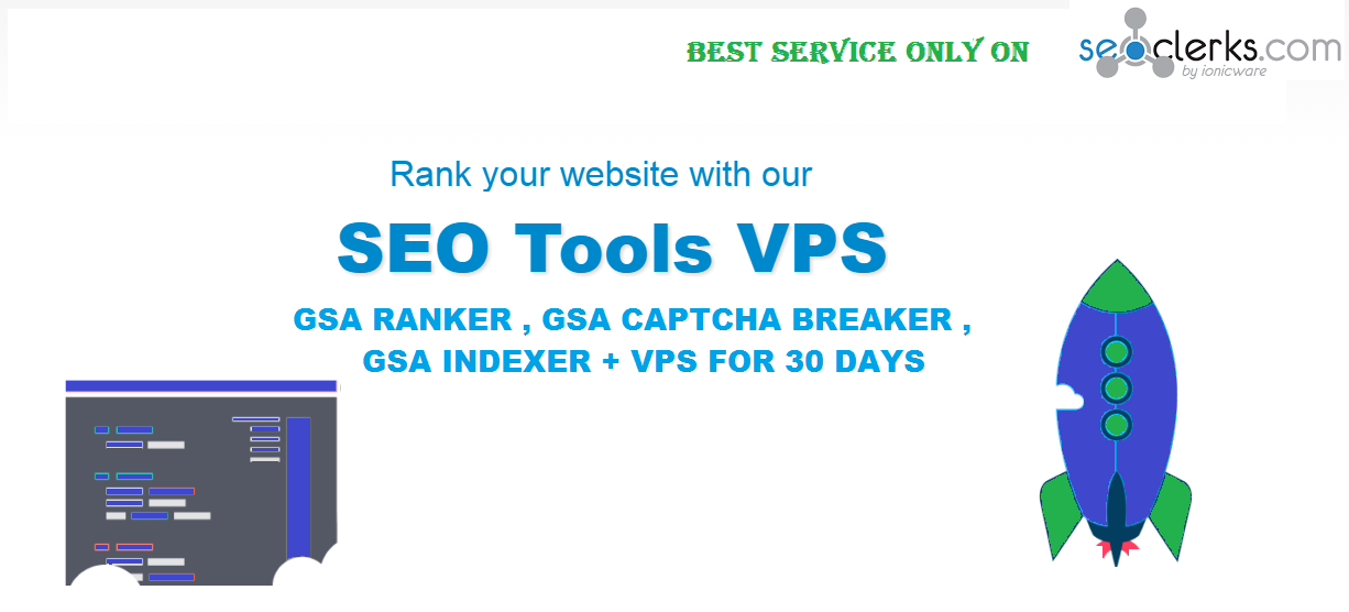 Windows Vps With Gsa Ranker + GSA Captcha Breaker + GSA Indexer