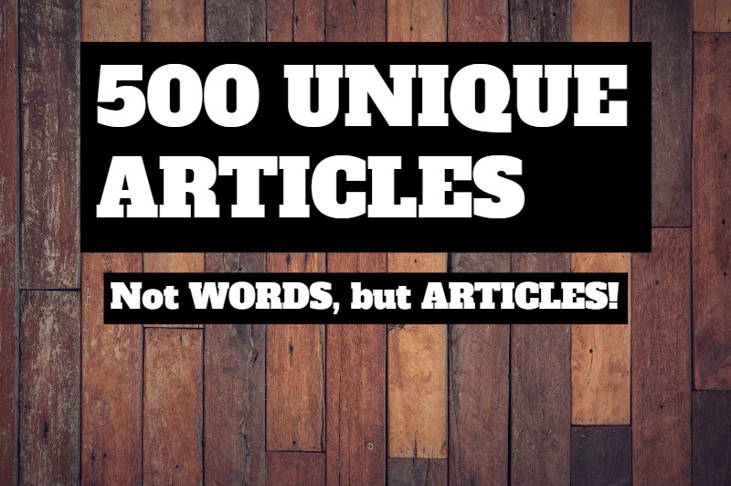 Get 500+ Unique Articles In Your Topic - Fast, Quick, & Readable!