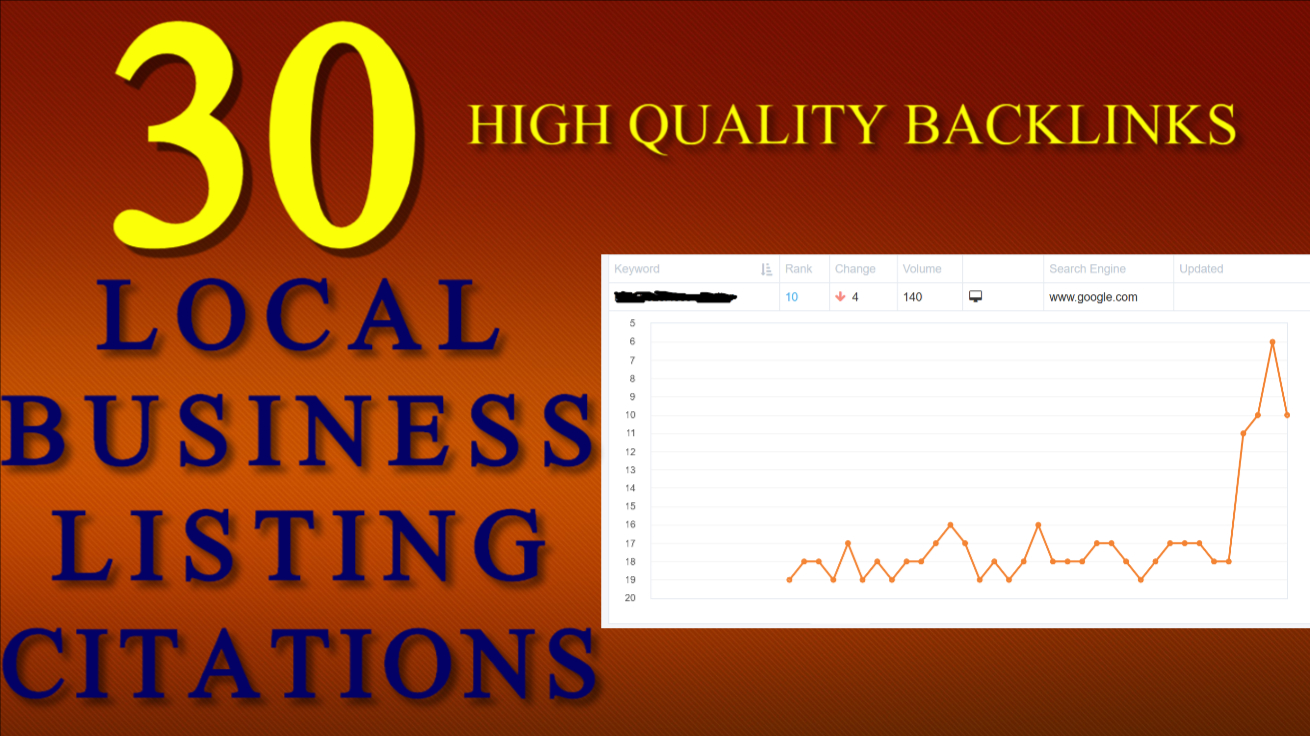 I will create 30 local business listing citations for local SEO