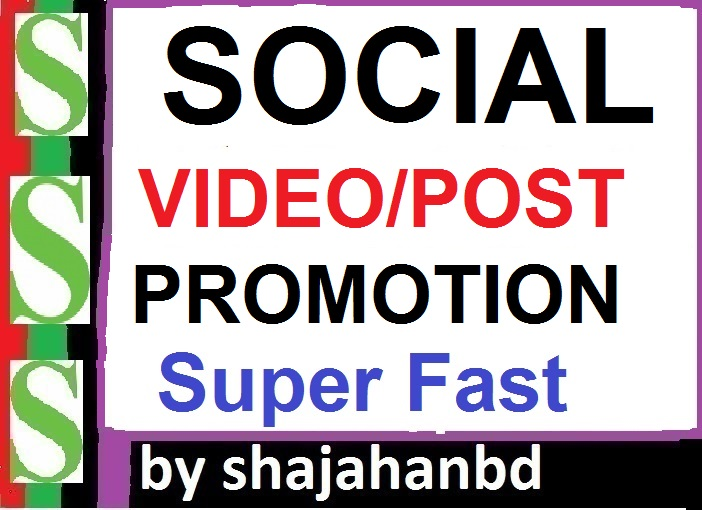 Instant Social Post Or Video Promotion High Quality