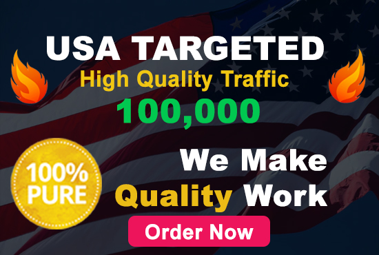 send 100,000 target website visitors from USA country, real visitors