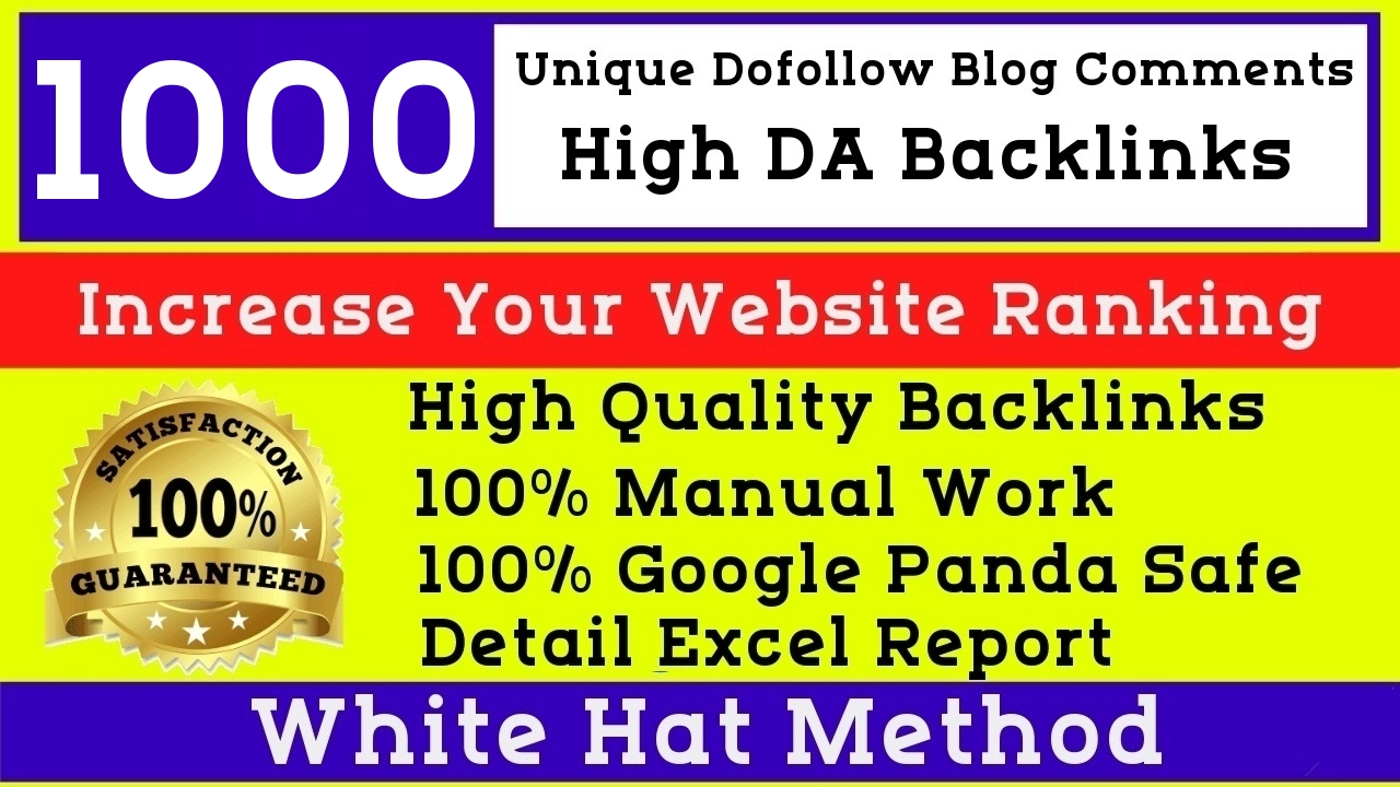 Ultimate Rank Booster Manual 1000 high quality dofollow High DA blog comments